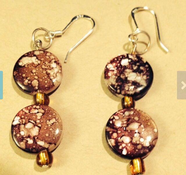 Humility exalts  Brown raindrop splash bead earrings.  Sterling silver earring hooks.  $20 Visit full store on www.sozojewelleeydesigns.com
