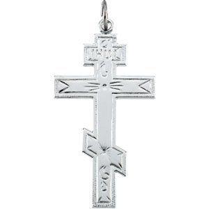 Sterling Silver St. Andrews Cross 37 X 21.25mm - JewelryWeb JewelryWeb. $107.00