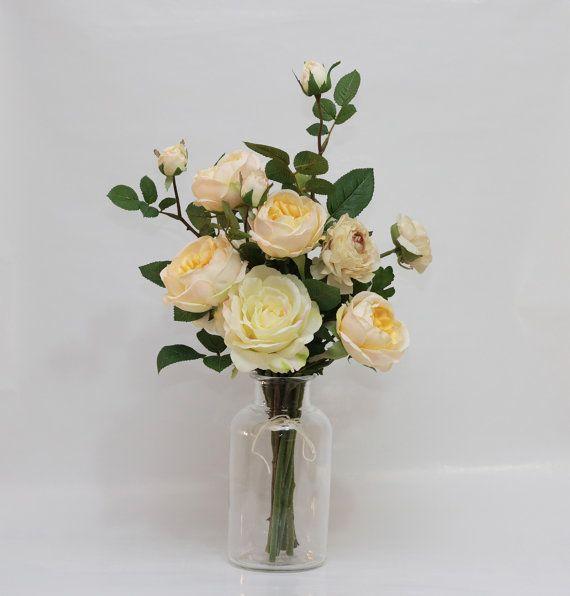 Peach roses Cream/Pink ranunculus and Cream by AliceThorWeddings