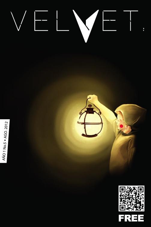 "Portada Revista Velvet Año1 No. 5 ""The Candle Keeper Boy"" por Carolina Rodriguez Fuenmayor"