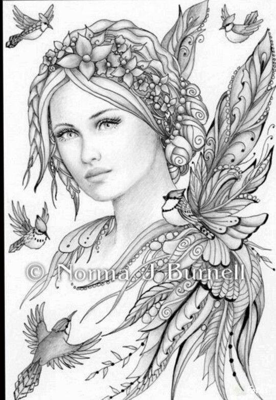 33 Best Zentangle Fairy Images On Pinterest Faces Fairy