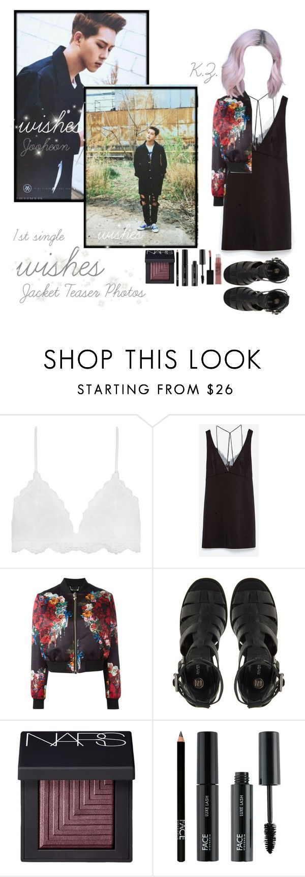 """""""《Wishes Jacket Teaser Photos》K.Z.& Jooheon"""" by mh-loves1d ❤ liked on Polyvore featuring Zara, Philipp Plein, River Island, NARS Cosmetics, FACE Stockholm and Maybelline"""