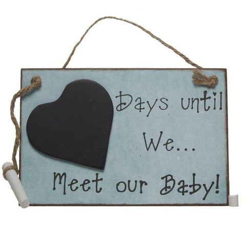 Days Until We Meet Our Baby Chalkboard - Amour Decor