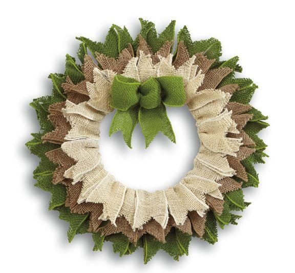 rag wreaths made with burlap of wire wreaths | burlap wreath