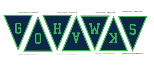 seahawks printable banner