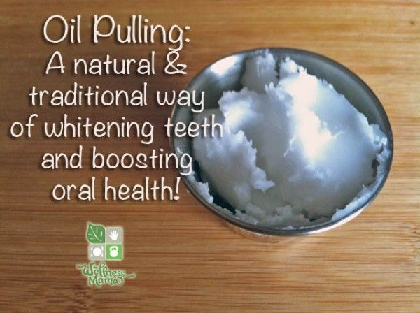 So here is how to oil pull using coconut oil: Take about 2 teaspoons of coconut oil and put it in your mouth.  You can chew or hold the coconut oil in your mouth until it melts down and becomes liquid. This process takes about half a minute.  Once the oil is melted start to swish and pull the oil back and forth as well as sideways covering all of your teeth. Do this for about 20 minutes and then spit the oil.