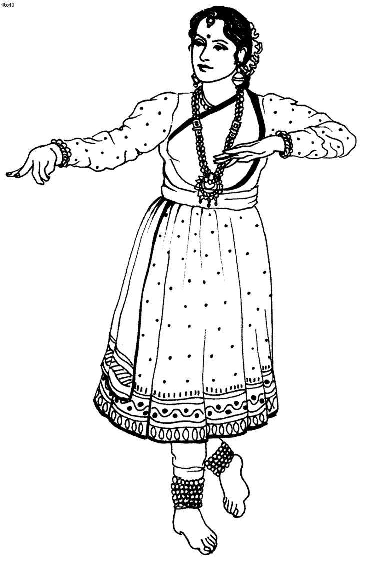 Coloring Pages Indian Girl Coloring Page 1000 images about viseletek on pinterest around the folk dances of india coloring pages indian classical kathak page of