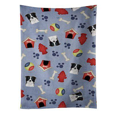 East Urban Home Dog House Border Collie Dishcloth
