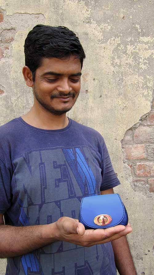 Cobalt Nicola, Chiaroscuro, India, Pure Leather, Handbag, Bag, Workshop Made, Leather, Bags, Handmade, Artisanal, Leather Work, Leather Workshop, Fashion, Women's Fashion, Women's Accessories, Accessories, Handcrafted, Made In India, Chiaroscuro Bags - 5