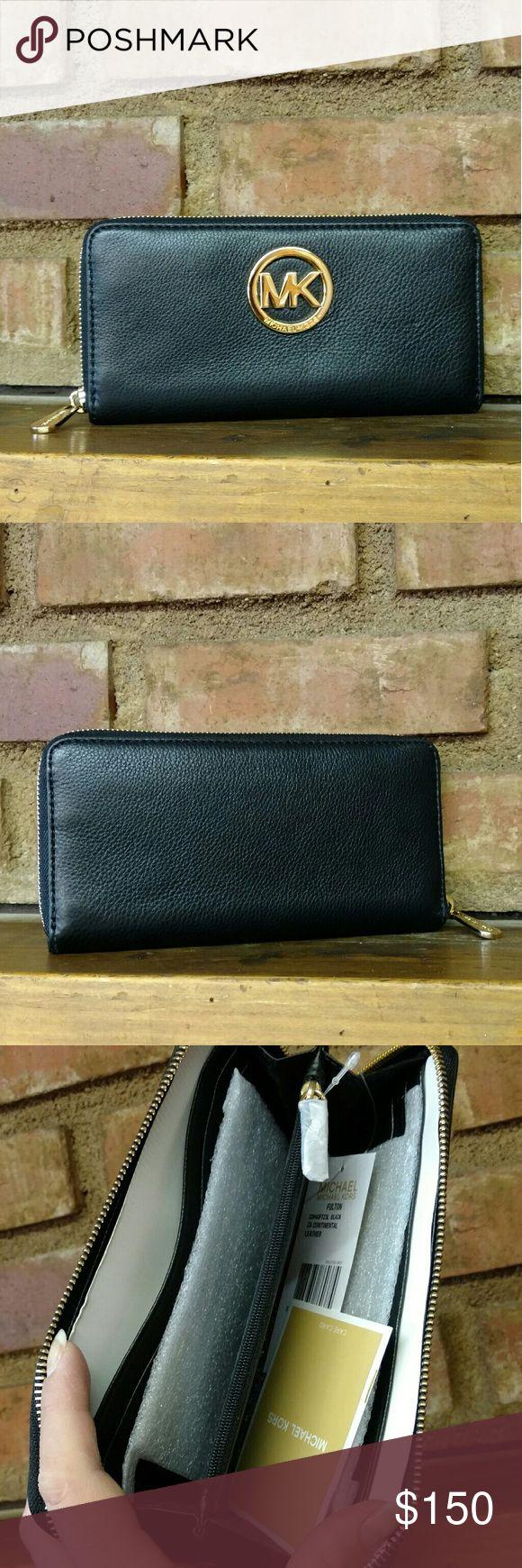 Black Fulton Continental Wallet NWT MICHAEL Michael Kors Bags Wallets