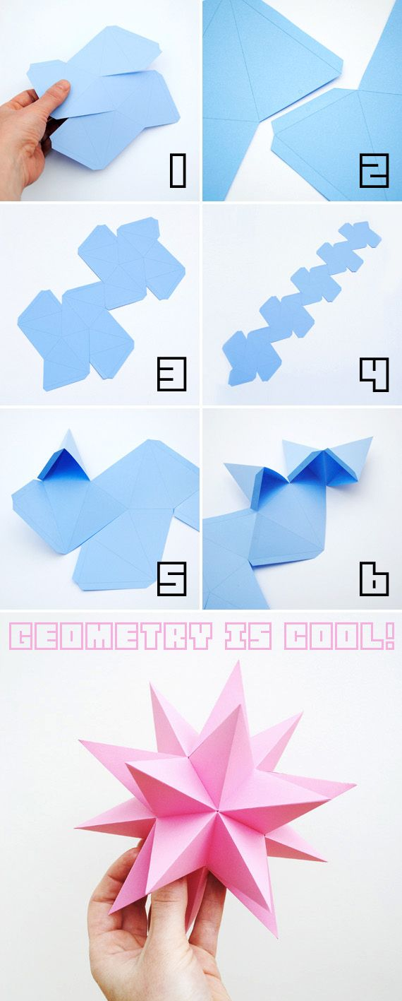 Fold these dodecahedron stars as table decorations. | 51 DIY Ways To Throw The Best New Year's Party Ever
