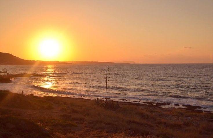 Crete. Sunset over the wonderful Gulf of Malia - Stalis - Hersonissos..