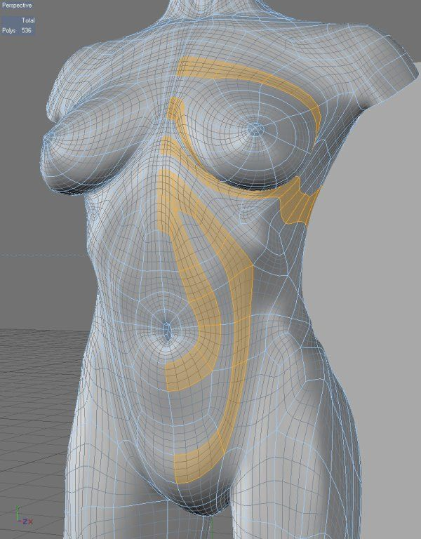 Animation-friendly character topology 3D Modeling