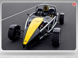 Ariel Atom. Awesome. Watch the Top Gear YouTube video.