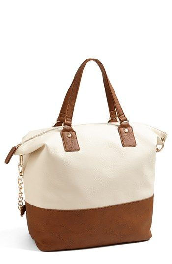 two-tone tote / nordstrom