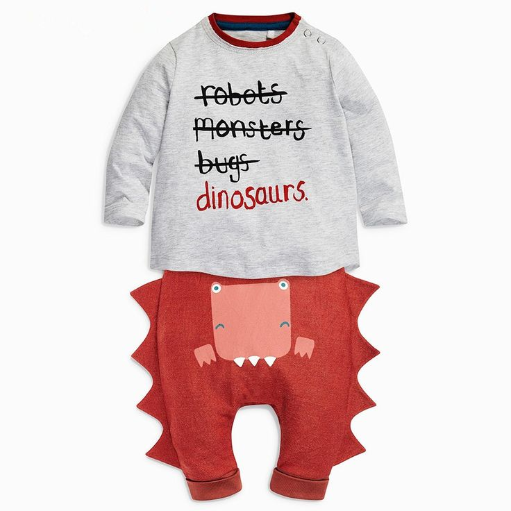 Children's clothing baby boy and girl Clothes Halloween letters dinosaur leisure suit Kids Clothing Sets Autumn 2016