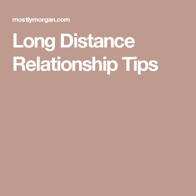tips for a successful distance relationship