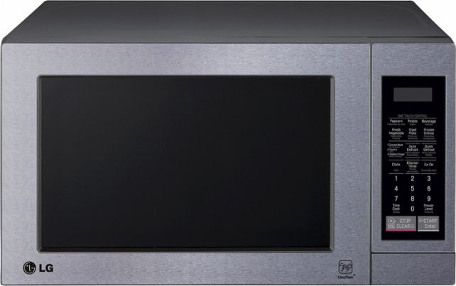 LG - 0.7 Cu. Ft. Compact Microwave - Stainless-Steel - Front Zoom