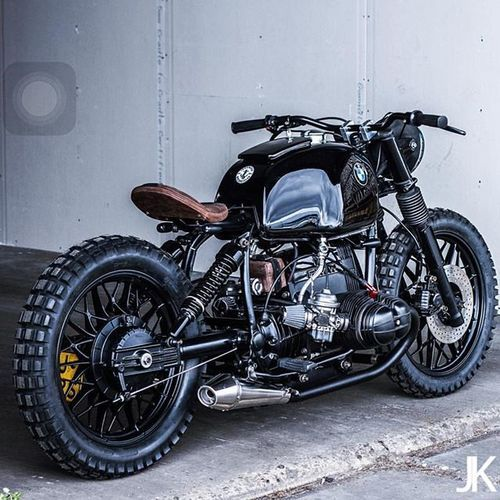We're all about this black beauty. A BMW R80 built by @arjanvandenboom and @eric.kalter of Ironwood Custom Motorcycles from the Netherlands. Bravo gentlemen!  #croig #caferacersofinstagram