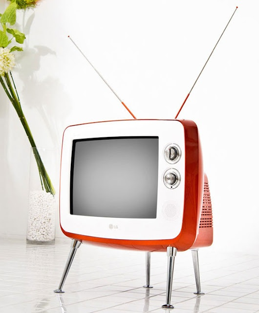 retro orange tv