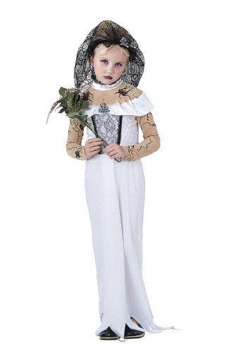 Bristol Novelty White/Black Zombie Bride Childrens Costume Girls Small 5-7 Years @ niftywarehouse.com #NiftyWarehouse #Zombie #Horror #Zombies #Halloween