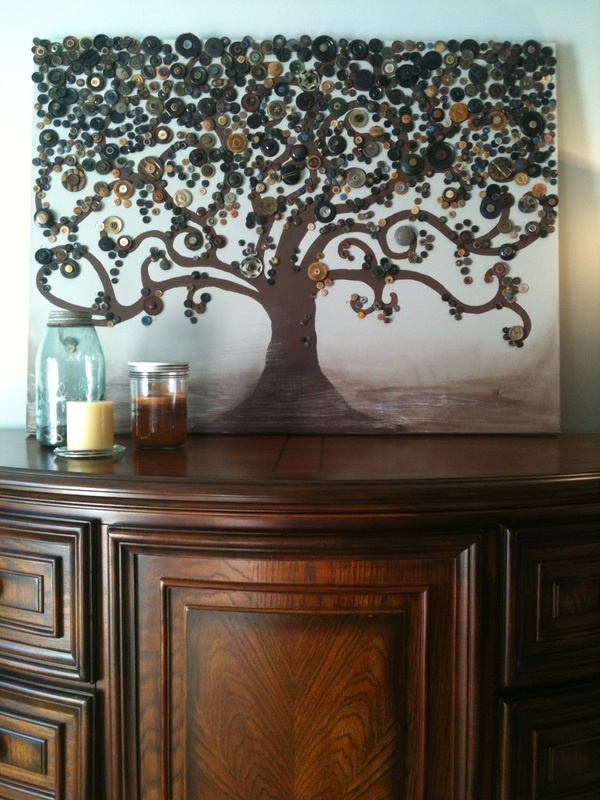 With my love for trees and lack of artistic ability, even I could make this!  Super happy!