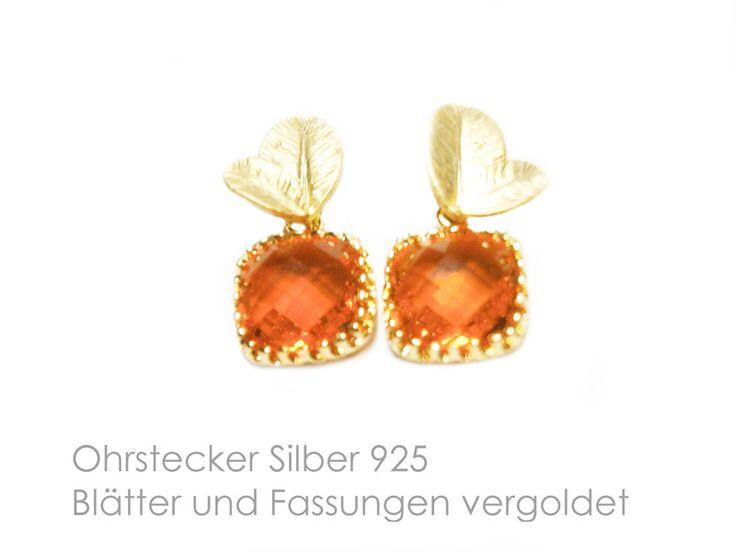 Ohrringe orange von DeineSchmuckFreundin - Schmuck und Accessoires auf DaWanda.com