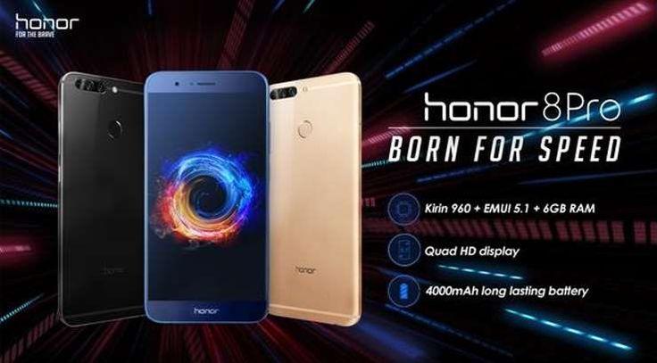La marque fille de Huawei profite du succès de flagship le Honor 8 pour présenter un nouveau dérivé qui porte le nom de Honor 8 Pro.  «Le Honor 8 Pro est fait pour répondre aux attentes des utilisateurs les plus exigeants, aux amateurs de photographie et aux voyageurs qui ne veulent plus... https://www.planet-sansfil.com/honor-lance-honor-8-pro/ 4G, 8 Pro, Bluetooth, Honor, Mali-G71, MicroSD, sans fil, smartphone, téléphone, WiFi, Wireless