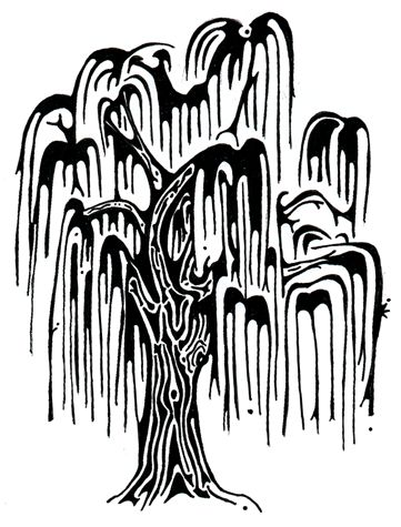 Weeping Willow Tree Black And White Tattoo 1000+ images ab...