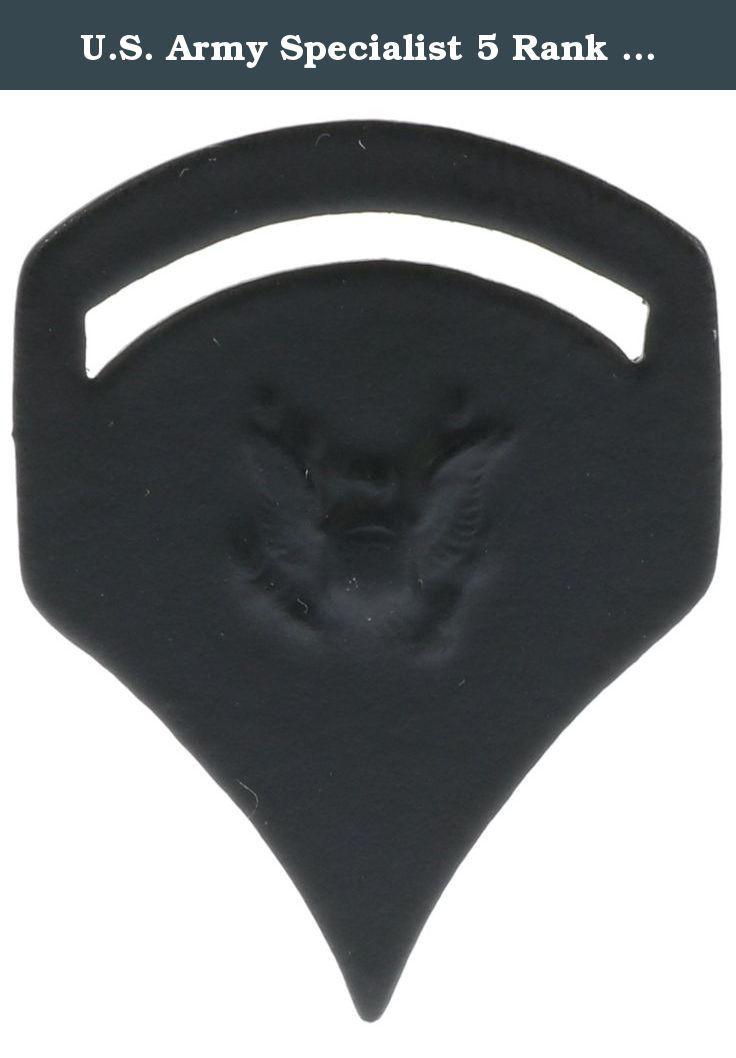 U.S. Army Specialist 5 Rank (black) Hat or Lapel Pin Hon14239. Specialist 5 Rank (black) pin.