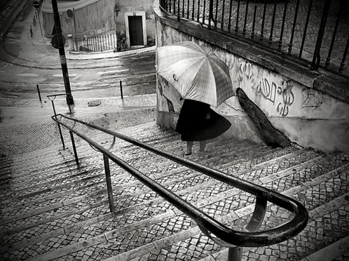 Stairs on the rain...