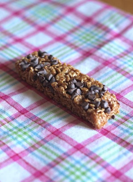 Barretta ai cereali e gocce di cioccolato