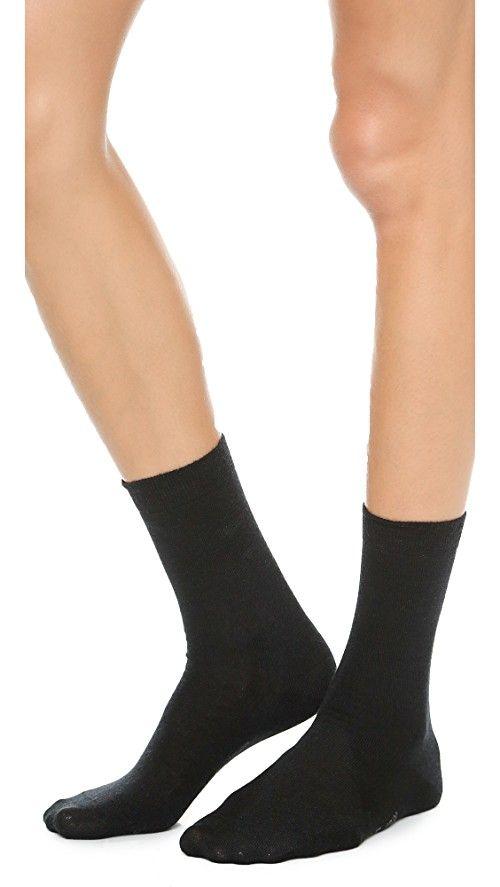 Falke Soft Merino Socks | Falke socks feature fine knit ribbing and elastic bands. 55% wool/28% cotton/15% polyamide/2% elastane. Wash cold. Imported, Slovakia (Slovak Republic).