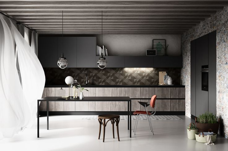 3D visualization of a kitchen made by Bruger Studio