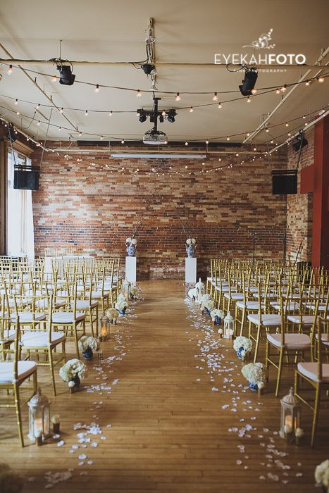 Ceremony set up at the Gladstone Hotel by Inspire Event Rental & Design