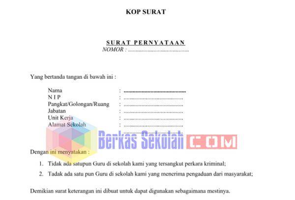 Pin On Surat Pernyataan Tidak Terlibat Tindak Pidana Untuk