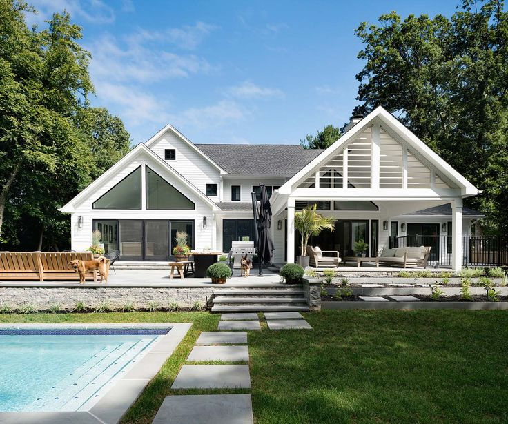 Modern farmhouse exteriors images for Farmhouse modern style