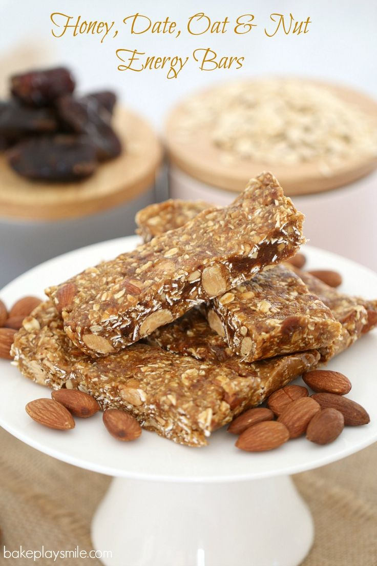 Honey, Date, Oat & Nut Energy Bars When you're after a healthy boost ...