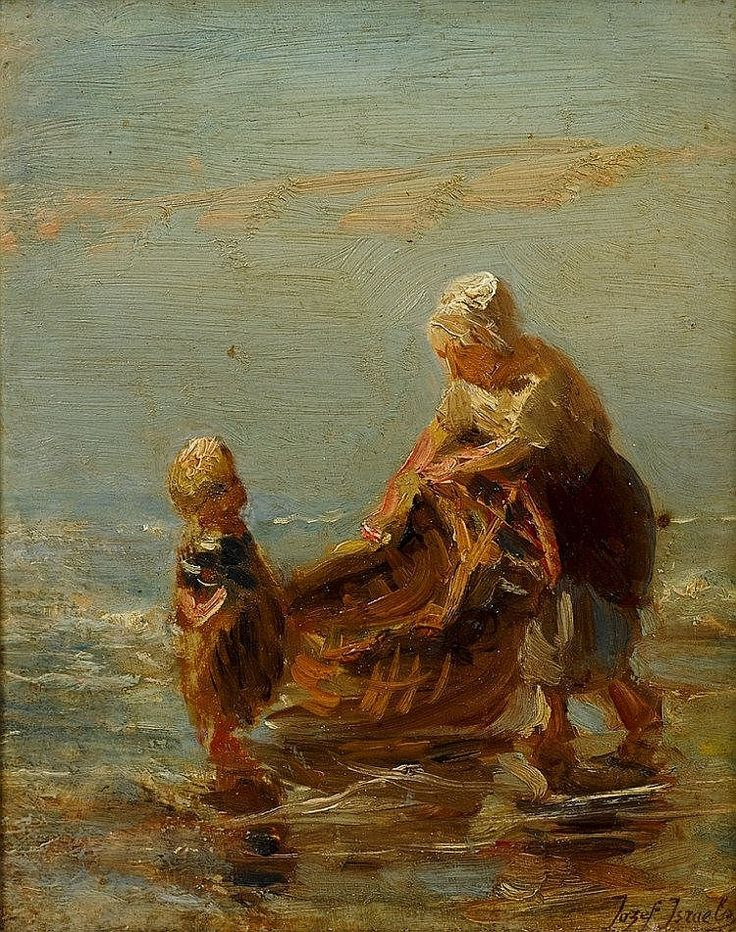 Jozef Israels (Dutch, 1824-1911) Mother and Child