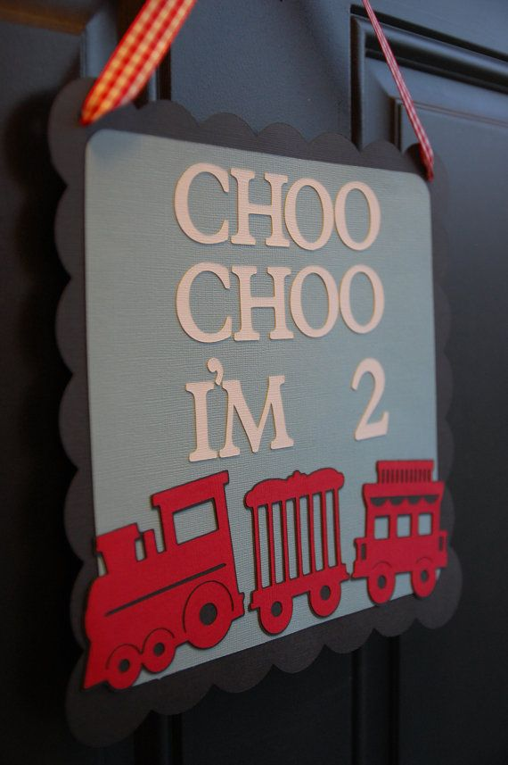 Train Door Sign Train Party Train Party Supplies by GiggleBees, $12.00