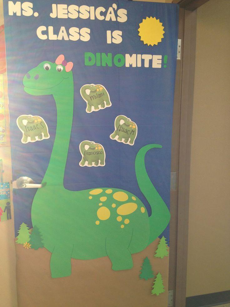 Dinosaur decoration classroom door & Best 25+ Dinosaur bulletin boards ideas only on Pinterest ... Pezcame.Com
