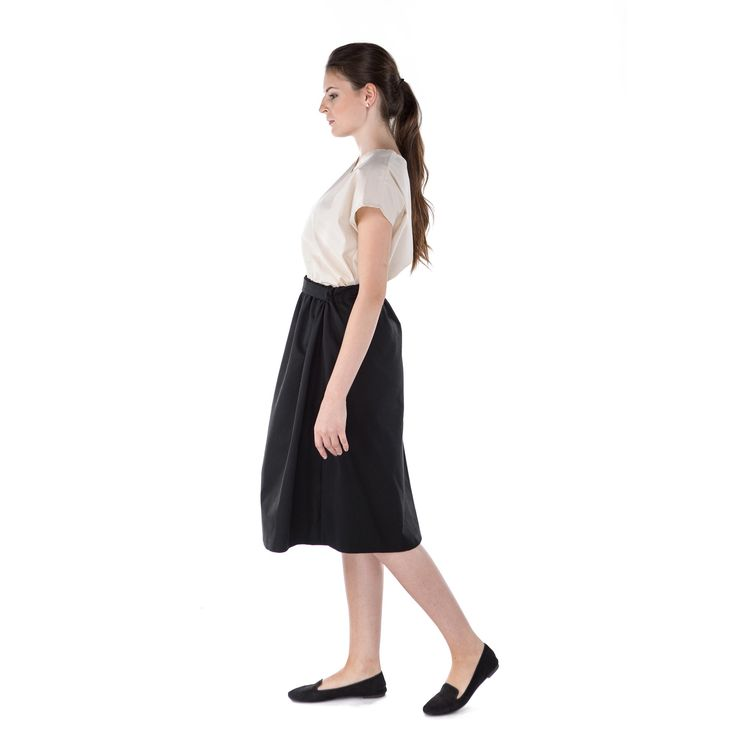 Everyday midi skirt - 100% GOTS certified organic cotton