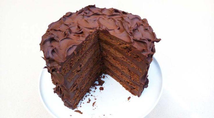 Torta vintage de chocolate por Isable Vermal