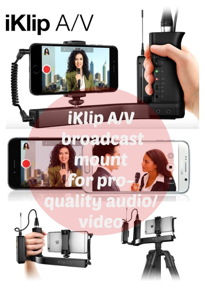 iklip A/V broadcast mount for iPhone offers he complete mobile solution for professional audio and video recording. iPhone accessories