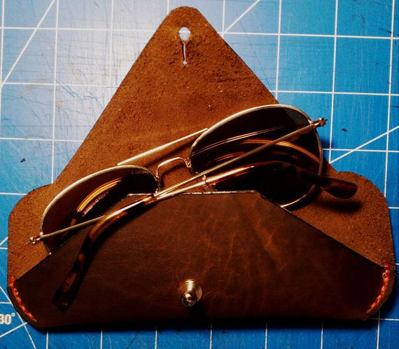 Handmade leather glasses case Leather case for sunglasses