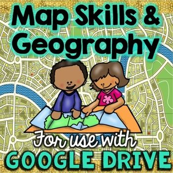 These online map skills activities & resources will give your students a deeper understanding of the geography and how to read a map. These resources are 100% online and can be used on Google Classroom and Google Drive.