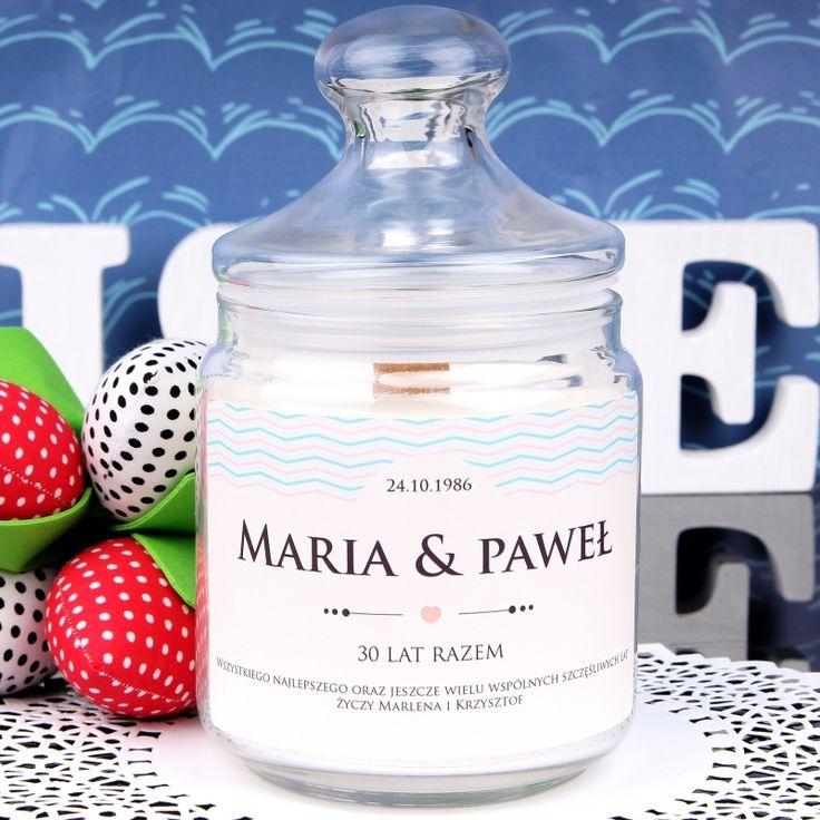 Personalizowana świeca zapachowa ROCZNICA