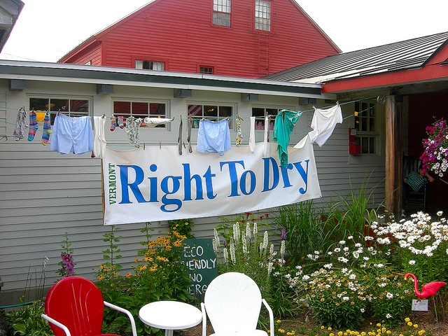 Vermont passed Right To Dry!  Virginia's GOP House is, unfortunately, under the thumb of the HOA lobbyists and failed to consider the bill.  My HOA, one of the largest in the nation, prohibits outdoor clothes drying.