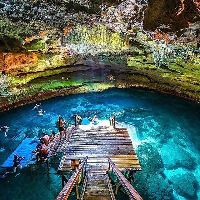 Follow @globefever for more. Devils den - a prehistoric natural spring, located in Williston #Florida. Photo by @wantedvisual