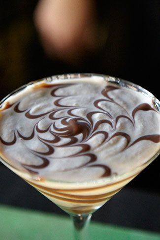 Close up of Hurricane's TOBLERONE cocktail